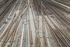 Trilhas railway vazias fotos de stock
