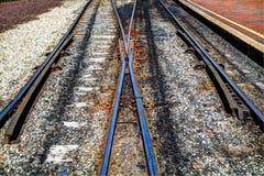 Trilhas railway vazias Fotos de Stock Royalty Free