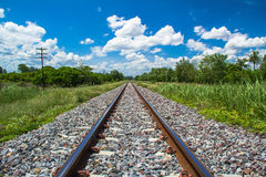 Trilhas railway vazias Fotografia de Stock Royalty Free
