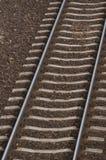 Trilhas railway vazias Foto de Stock Royalty Free