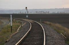 Trilhas railway vazias Imagem de Stock Royalty Free