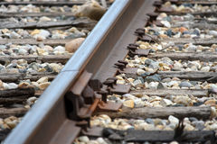 Trilhas railway velhas Fotos de Stock