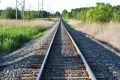 Trilhas rurais do trem fotos de stock