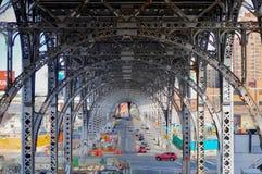 Trilhas superiores do trem do lado oeste - NYC Imagens de Stock