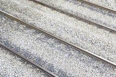 Trilhas velhas do trem Fotografia de Stock