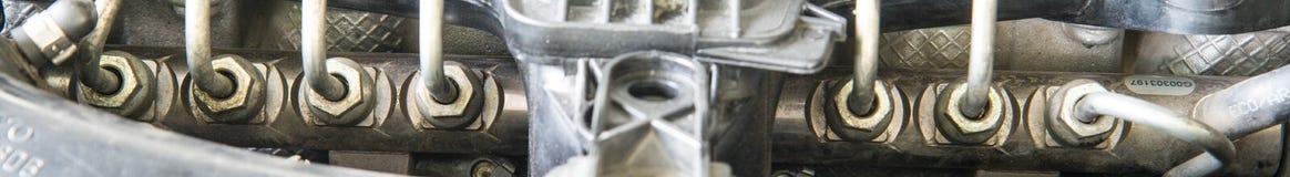 Trilho comum do combustível diesel do carro imagens de stock