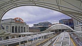 Trilho da luz de Denver Foto de Stock Royalty Free