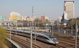 Trilho de alta velocidade chinês Imagem de Stock Royalty Free