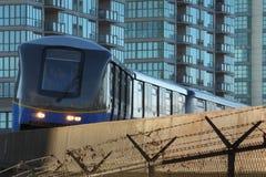 Trilho do assinante de Vancôver Skytrain Imagem de Stock Royalty Free