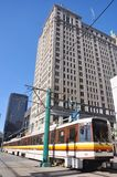 Trilho do metro do búfalo Foto de Stock