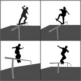 Trilho do skater Imagem de Stock