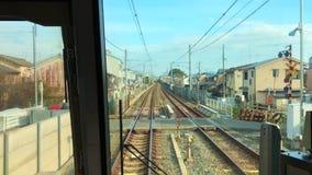 Trilho do trem em Japão video estoque