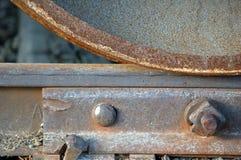 Trilho e roda Imagens de Stock