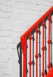 Trilho e sombra vermelhos fotografia de stock