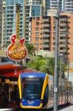 Trilho G da luz de Gold Coast - Queensland Austrália Fotografia de Stock Royalty Free