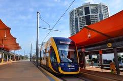 Trilho G da luz de Gold Coast - Queensland Austrália Foto de Stock