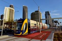 Trilho G da luz de Gold Coast - Queensland Austrália Fotografia de Stock