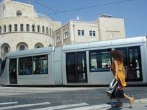 Trilho leve de Jerusalem Fotos de Stock