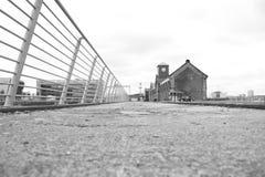 Trilho titânico do Dockside foto de stock