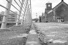 Trilho titânico do Dockside fotografia de stock