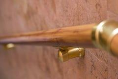 Trilhos, corrimão, corrimão bonito Linha de madeira trilho handrail foto de stock
