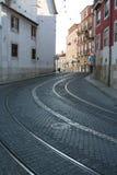 Trilhos curvados Fotos de Stock