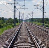 Trilhos da estrada de ferro Fotos de Stock