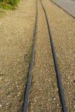 Trilhos da estrada de ferro de Minituare Fotos de Stock