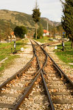 Trilhos da estrada de ferro famosa de Diakofto-Kalavrita Imagem de Stock Royalty Free