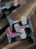 Trilhos de aço Foto de Stock
