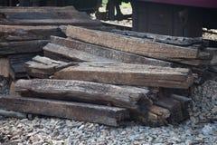 Trilhos de madeira Foto de Stock Royalty Free