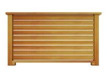 Trilhos de madeira do cedro com rendição de madeira dos balaústres 3d Imagens de Stock