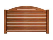 Trilhos de madeira do Ipe com balaústres de madeira e o trilho superior curvado 3d ilustração royalty free
