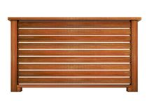 Trilhos de madeira do Ipe com rendição de madeira dos balaústres 3d Imagens de Stock