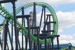 Trilhos do Coaster   Fotografia de Stock Royalty Free