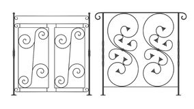 Trilhos do ferro forjado ilustração royalty free