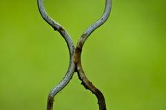 Trilhos do ferro que formam um x Foto de Stock Royalty Free