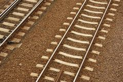 Trilhos do trem Fotografia de Stock