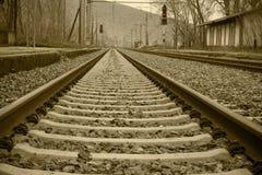 Trilhos do trem Imagens de Stock Royalty Free