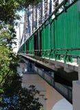 Trilhos e estrutura de Brisbane da ponte da história Imagens de Stock