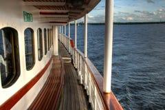 Trilhos em um navio Fotos de Stock Royalty Free