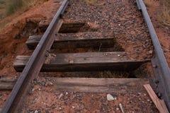 Trilhos. Estrada de ferro abandonada velha Fotografia de Stock Royalty Free
