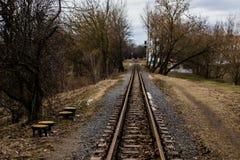 Trilhos estreitos Fotografia de Stock