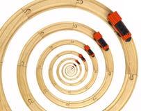 Trilhos infinitos do trem Foto de Stock