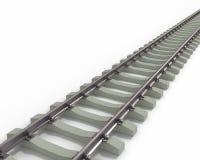 Trilhos longos diagonais Imagens de Stock