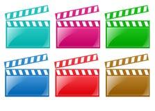 Trilhos lustrosos da película Fotos de Stock