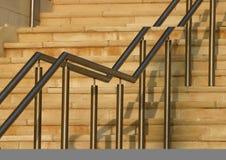 Trilhos modernos da escada Imagens de Stock
