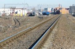 Trilhos na estrada de ferro Fotos de Stock