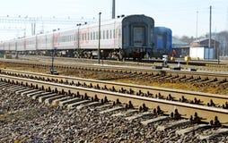 Trilhos na estrada de ferro Imagens de Stock Royalty Free
