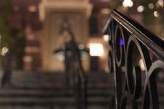 trilhos nas escadas Imagem de Stock Royalty Free